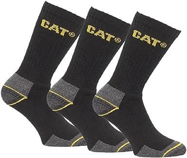 6-9, 6 Grey Pair Caterpillar CAT Mens Works Socks