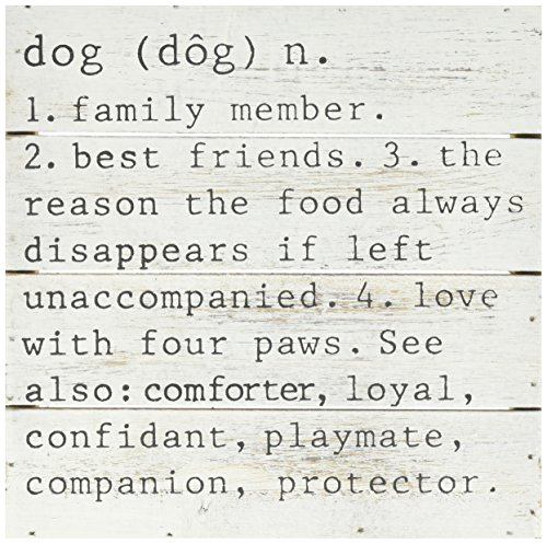 Mud Styles Pie (Mud Pie Dog Definition Wooden Plaque, Off White, 8 by 8