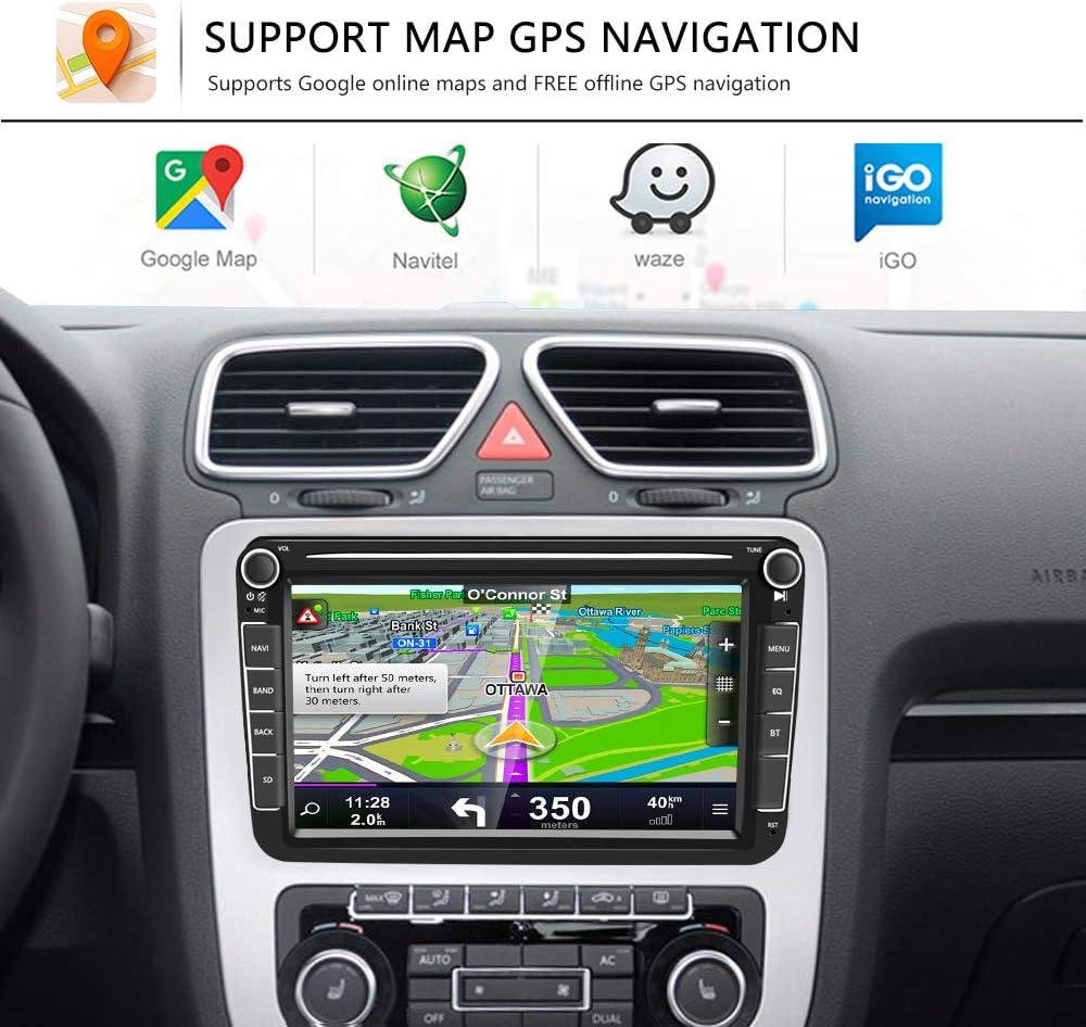 HUOGUOYIN Autoradio Bluetooth Interni Dash Center Console Trim Mascherina del Pannello Radio Viso Telaio for VW Passat B5 1998-2003 2004 2005 Fascia per Auto