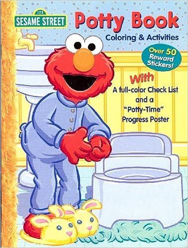 Sesame Street Potty Book Coloring Activities With Elmo Bendon Amazon Books