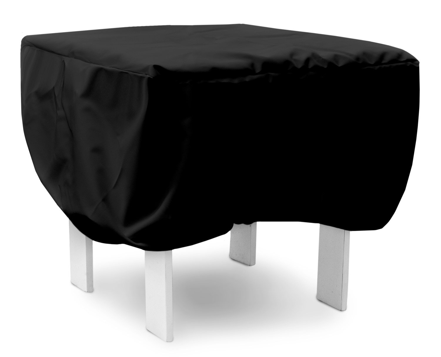 KoverRoos Weathermax 79317 30-Inch Ottoman/Small Table Cover, 30 by 30 by 15-Inch, Black