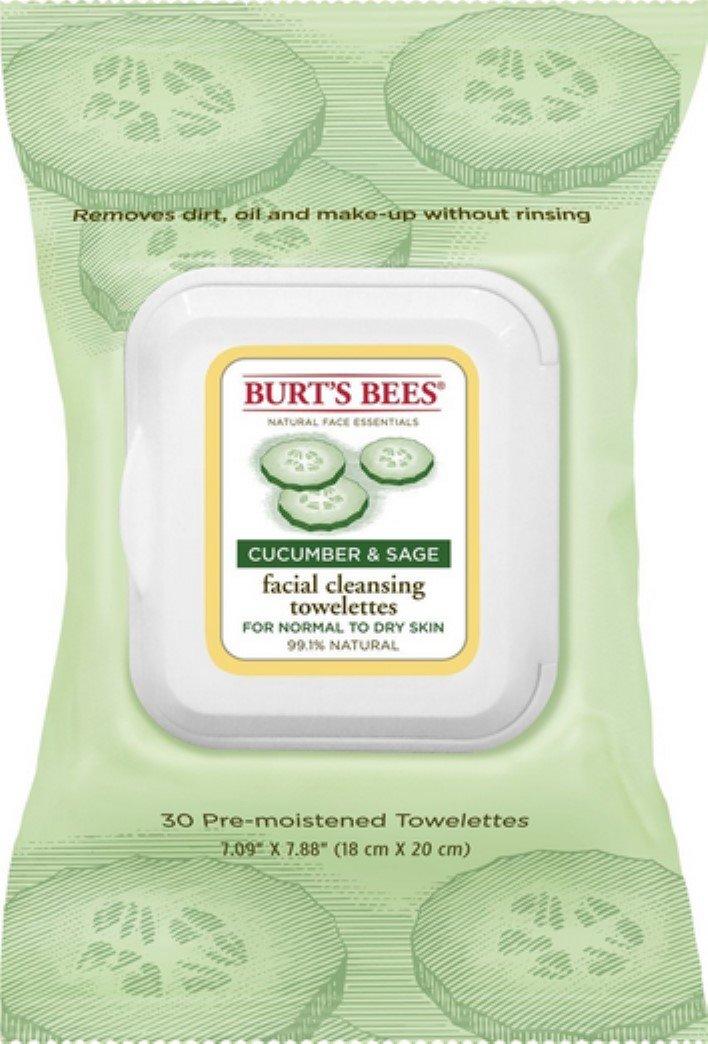 Burts Facial Twlette Cuke Size 30ct Burts Cleasing Towel Facial Cuke/Sage 30ct