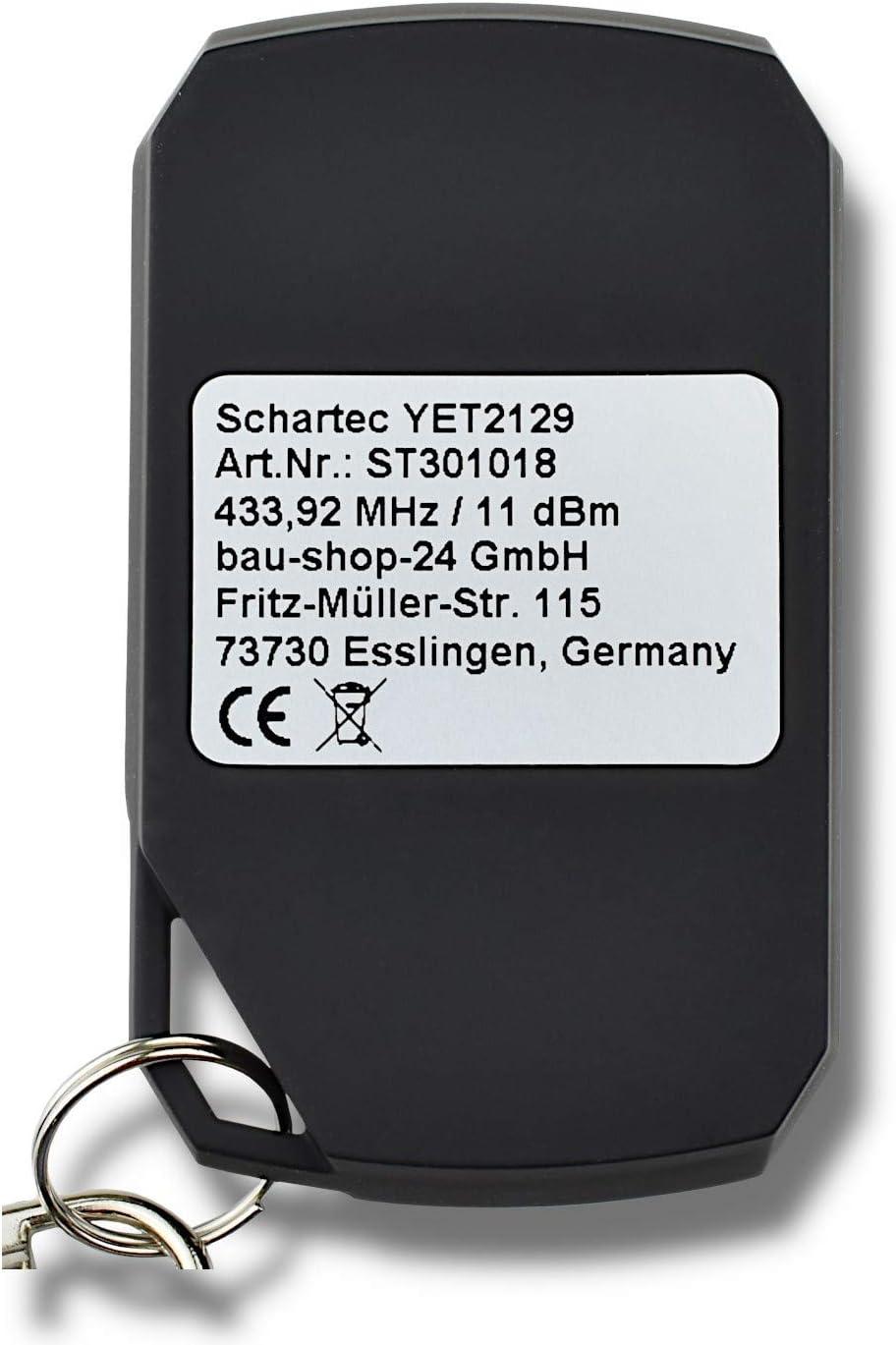 Schartec Handsender 433,92 MHz f/ür Universal Funkempf/änger YET402PC-S17 Funk Fernbedienung Rolling-Code