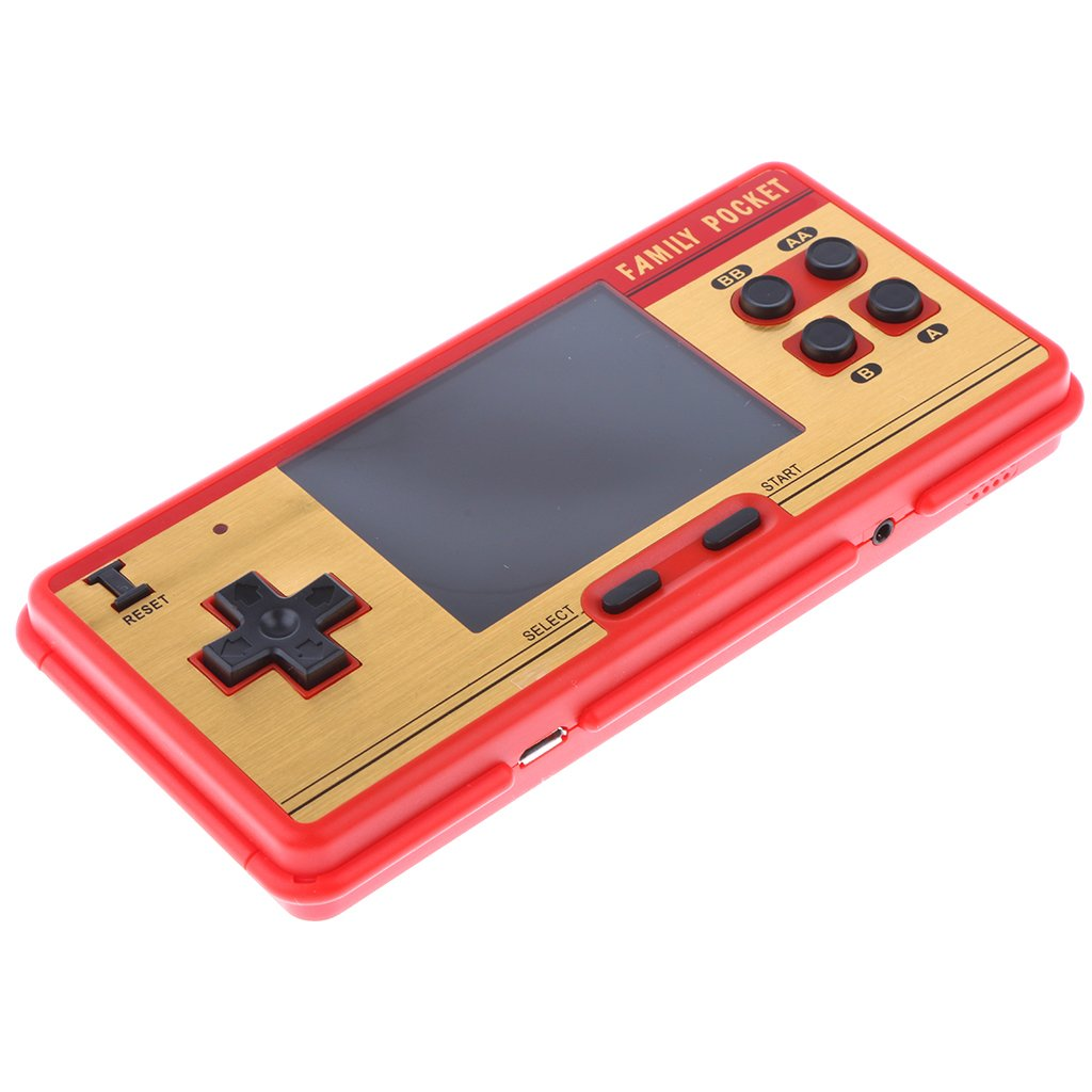 MagiDeal RS-20A 3.0 Zoll Farbdisplay 638 Classic Spielkonsole Videospiel Handheld Konsole eingebaut Lausprecher Kopfhöreranschluss - Dunkelrot