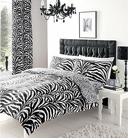 Funda Nordica Zebra.Eds Juego De Funda Nordica Estampada De Cebra Con Fundas De