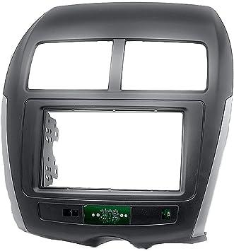 UGAR 11-103 Trim Fascia Car Radio Kit de Montaje de instalación para Citroen C4 Aircross 2012+ / Mitsubishi ASX, RVR, Outlander Sport 2010-2016 / Peugeot 4008 2012+: Amazon.es: Coche y moto