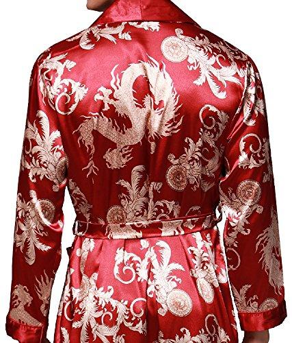 Bata Extra Pijamas Kimono Multicolor Borgoña2 032r Albornoz Nuevo Para satén De Hombre Dormir Baño casa Talla L cama Vernassa Dragón xxl spa xwUFqn