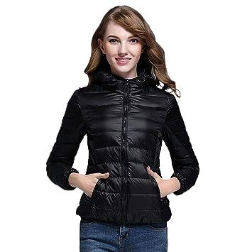 Damen Leichte Daunenjacke Mit Kapuze Ultraleicht Steppjacke übergangs Jacke in Winter