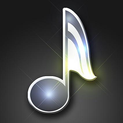 Amazon Light Up Music Note Flashing Blinking Led Body Light