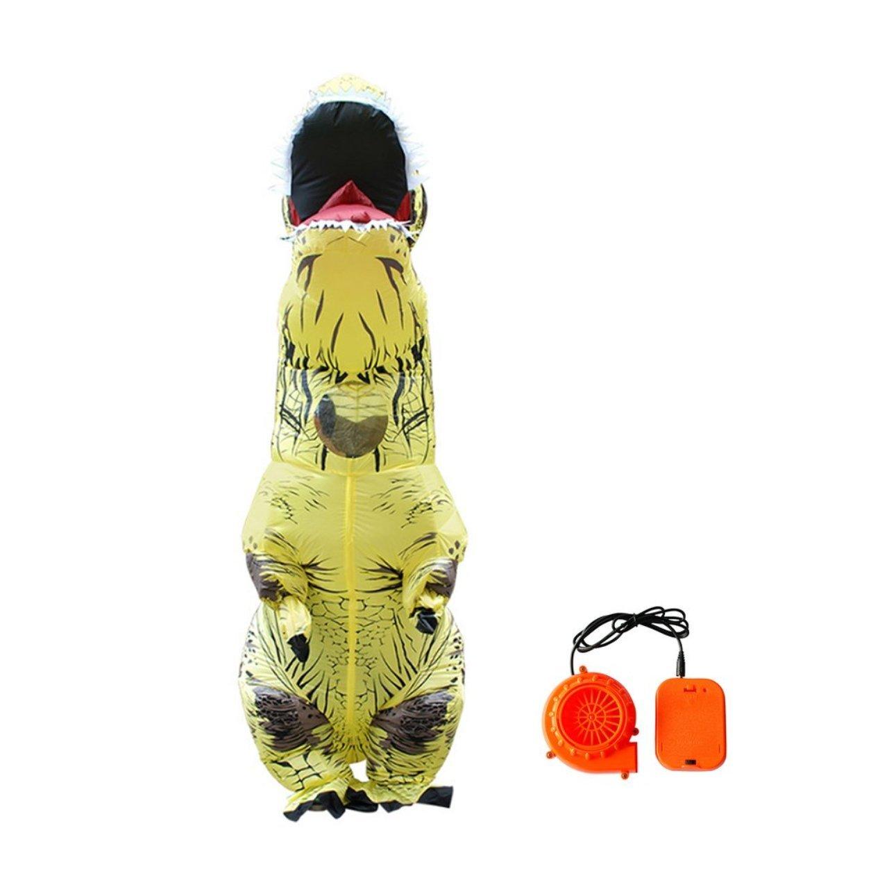 Dailyinshop Reizende Nette aufblasbare Tierdinosaurier-Kostüme für Halloween-Partei Cosplay (Farbe: Gelb)