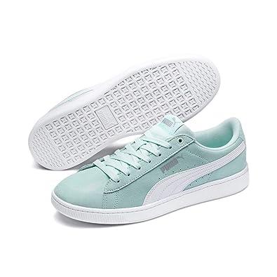 e151f8b84bf93 Amazon.com | Puma Women's Vikky v2 Low-Top Sneakers, Blue (Fair Aqua ...