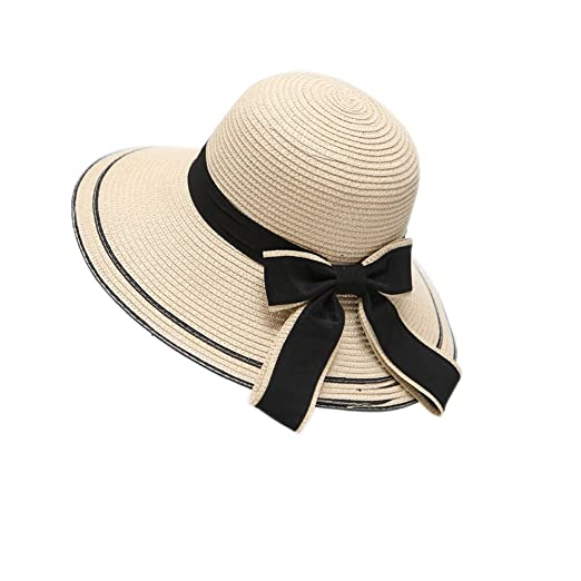 e44267e02 Rookay Women's Big Brim Straw Sun Hat Floppy Foldable Travel Summer ...