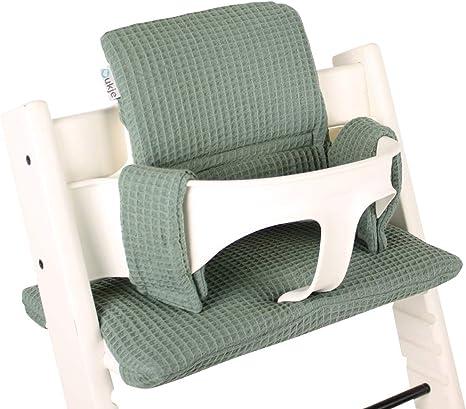 BambiniWelt Juego de cojines de asiento para trona Stokke Tripp Trapp de 2 piezas Coj/ín Coj/ín Coj/ín Coj/ín Coj/ín de Repuesto Coj/ín Estrellas Estrellas burdeos.