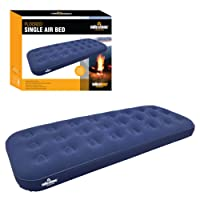 Milestone Camping Single Flocked Airbed - Blue