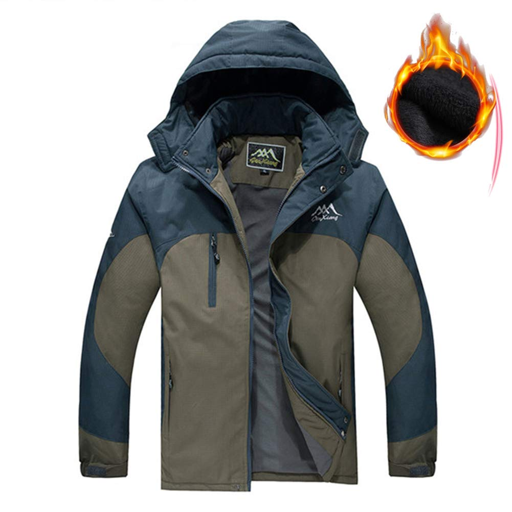 RSTJ-Sjcw Man es Ski Jacket 3 in 1 USB Electric Heated Winter Jacket Windproof Coat