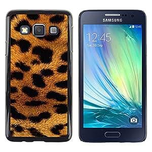 Be Good Phone Accessory // Dura Cáscara cubierta Protectora Caso Carcasa Funda de Protección para Samsung Galaxy A3 SM-A300 // panther fur Africa animal pattern gold