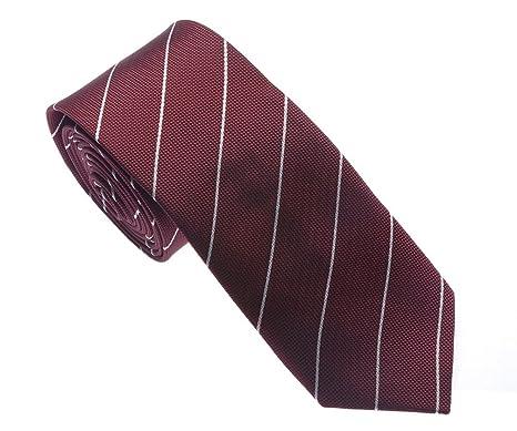 Uyoung - Corbata - para hombre Marrón rojo (Maroon): Amazon.es ...