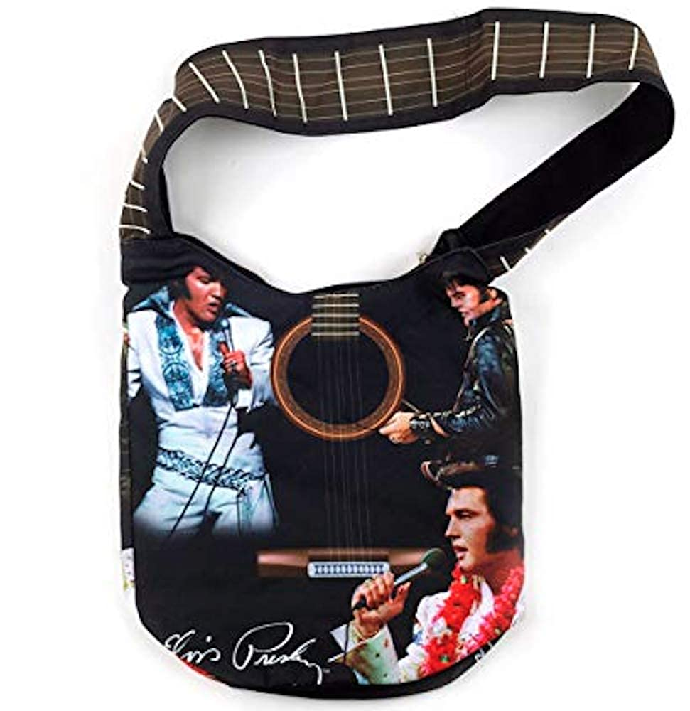 Elvis Presley Large Tote Bag With Guitar