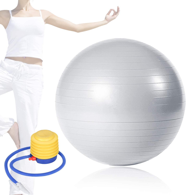 wolketon Ballon de Gymnastique 65cm 75cm 85cm Ballon Fitness Balles dexercices Fitness avec Pompe Balle de Yoga