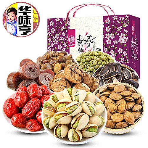 China Good Food 美国华人过年春节送礼干货食品 China Food Snacks(华味亨 青春坚果炒货礼盒 1515g Nuts Gift Packs)送禮佳品New Year by China Good Food