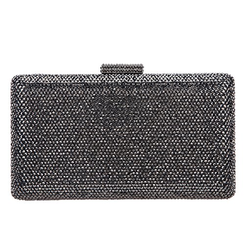 (Fawziya Crystal Clutch Party Purses For Women Evening Bags And Clutches-Gray)