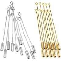 Baoblaze 20pcs Metal Stick Pin for DIY Jewelry Findings Long Needle Eye Pin for Lapel Scarf Hat Safety Pins - Golden