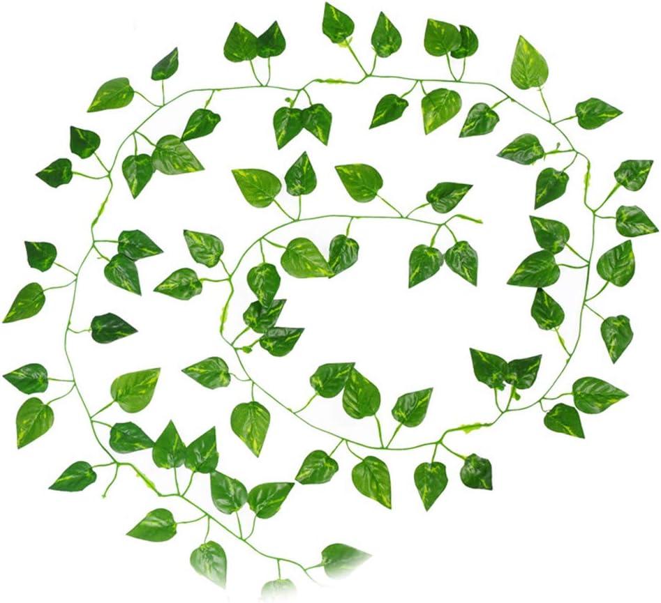 Rekkles 2m Enredadera Begonia Artificial Ivy Vine Leaf Plantas Plantas Artificiales Falsos Falso Colgando Inicio Decoraci/ón de la Boda
