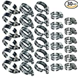7 32 stainless steel cable - Water Pipe Clamps Stainless Steel Worm Gear Hose Clamps Assortment Kit 30 Piece