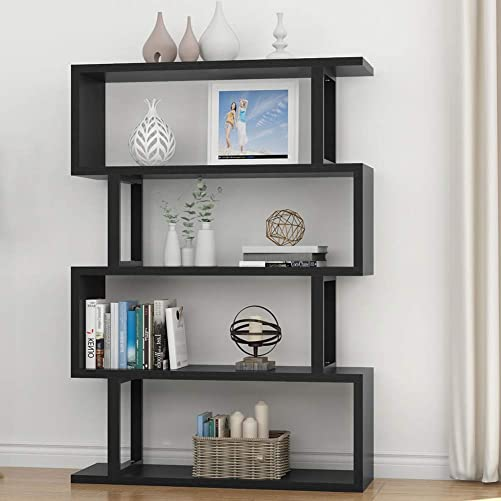 Tribesigns 4 Shelf Bookcase Modern Bookshelf, 4-Tier Display Shelf Storage Organizer for Living Room, Home Office, Bedroom Black