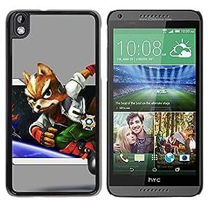 EJOY---Cubierta de la caja de protección la piel dura para el / HTC DESIRE 816 / --Espacio Fox