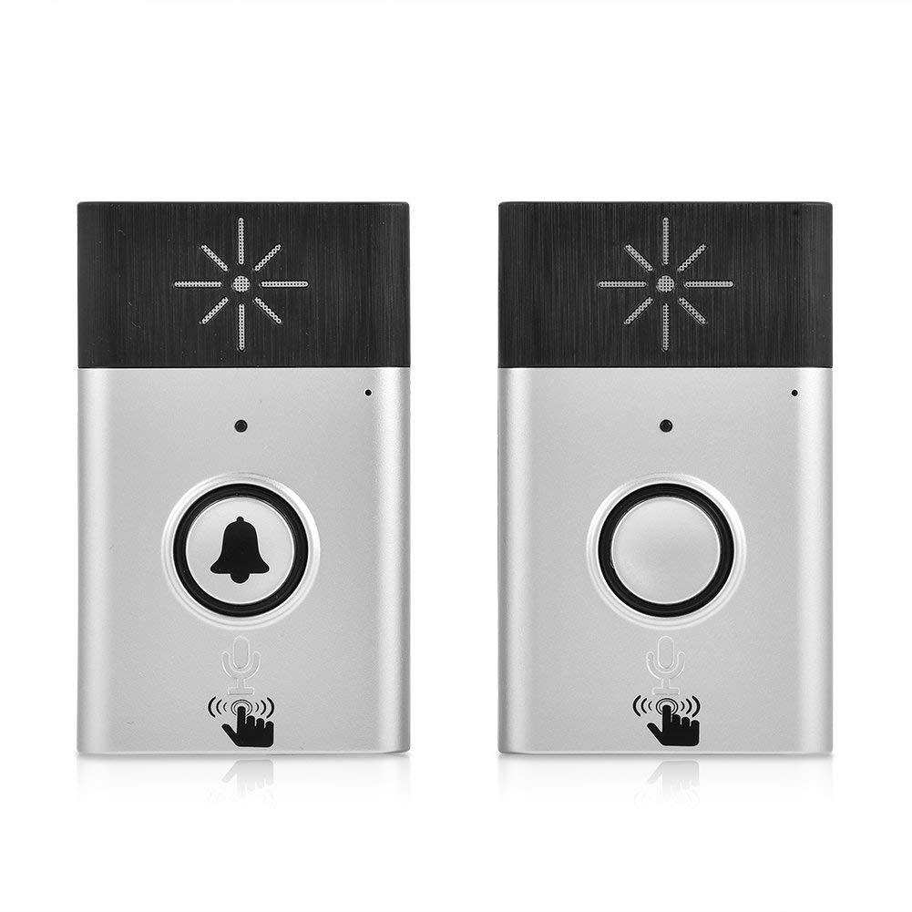 kit de Carillon sans Fil 2,4 GHz Acogedor Sonnette sans Fil Mini interphone Vocal Portable Double Voie avec port/ée de 300 m syst/ème dinterphone sans Fil