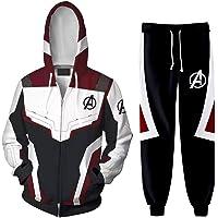 Silver Basic Niño Avengers Superhero Sudadera con Capucha y Pantalones Chándal de 2 Piezas Quantum Realm Cosplay…