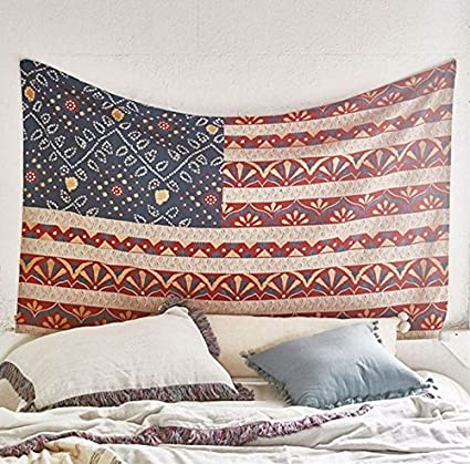 Amazon.com: Flag Of The United States Wall Tapestry Wall Decor ...