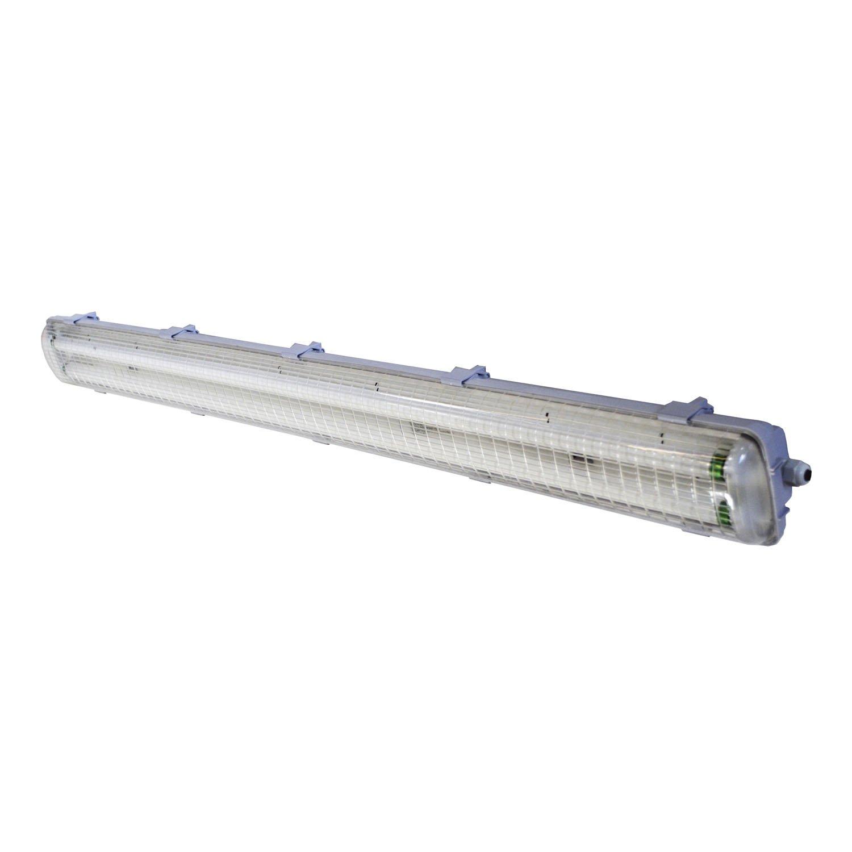 HomeSelects 6219 T8 Vapor Tight Flourescent Light, White, 50''L x 5''W x 3.5''H