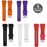 Lamshaw Classic Silicone Replacement Band for Michael Kors Smartwatch Strap (5 Pack)