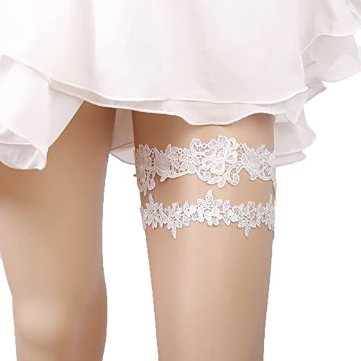 288d62b508a Lace Garter Set Wedding Garter Belt Flower Floral Design Garter for Bride  Ivory