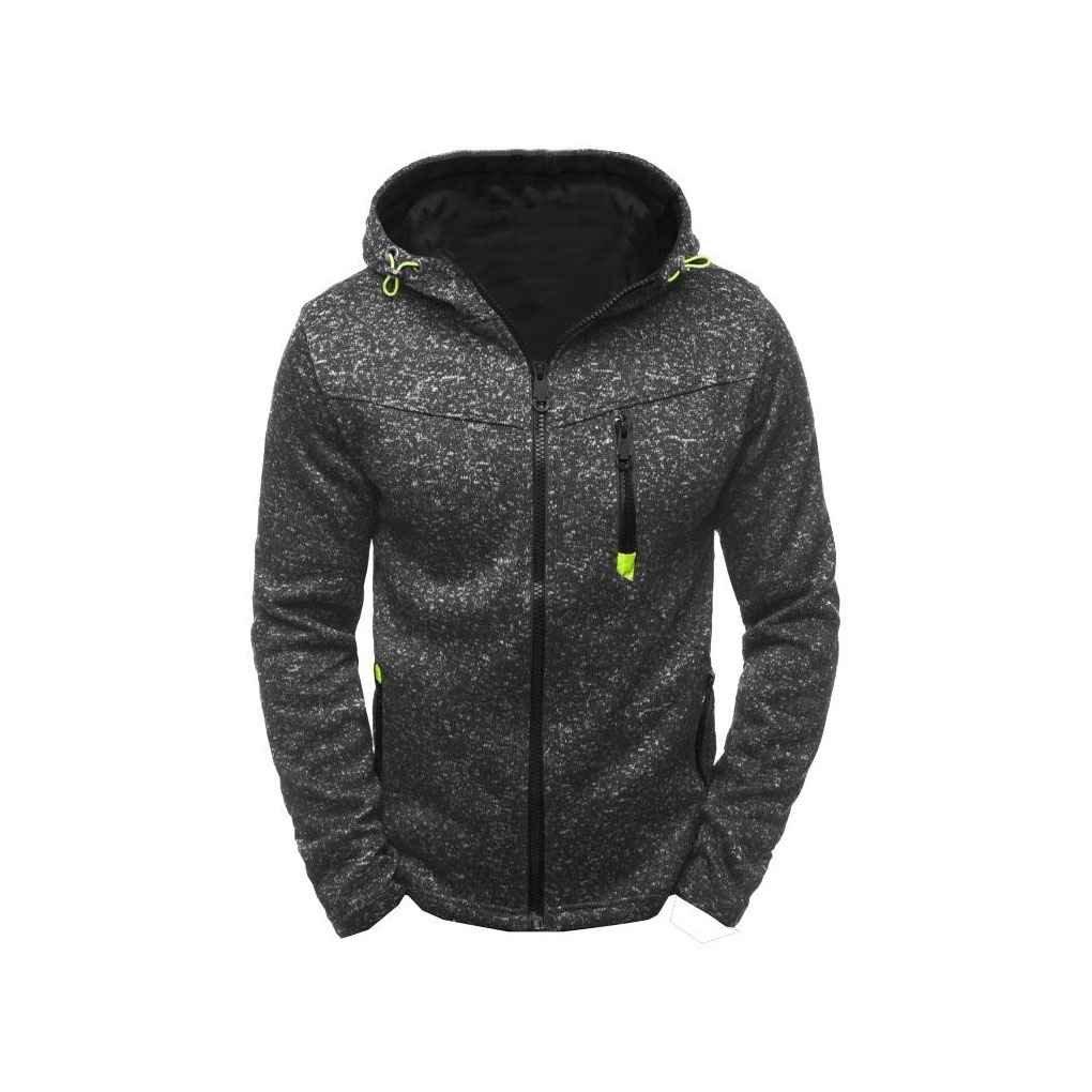 Arichtops Mens Casual Cashmere Cardigan Drawstring Sweatshirt Long Sleeve Zipper Hoodie Pockets Jacket