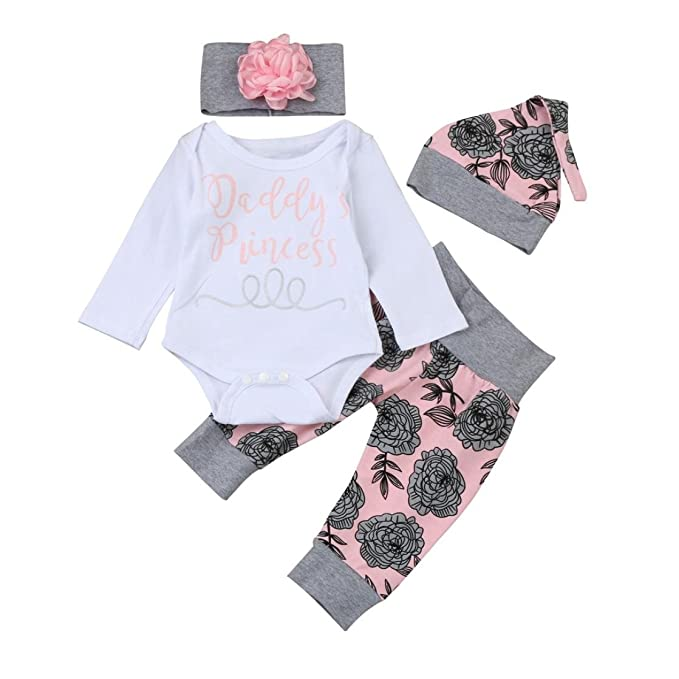 Ropa Bebe Niña Otoño Invierno SMARTLADY Recién Nacido Niña Peleles Monos de manga larga + Floral