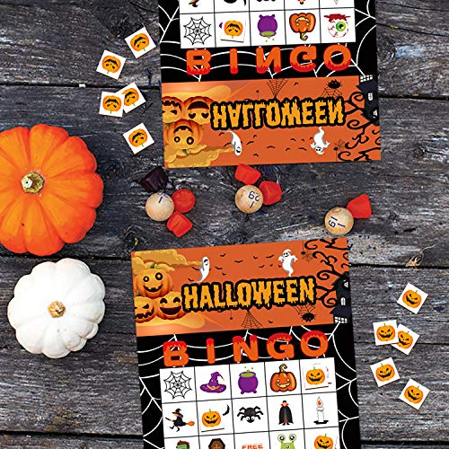Halloween Games Bingo Cards for Kids Party Supplies 24players by jollylife (Image #1)