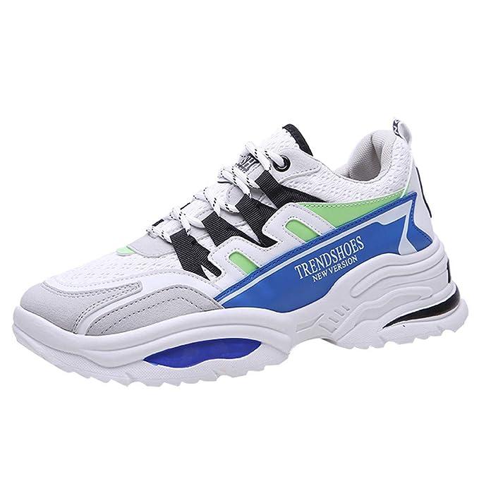Mxjeeio Zapatillas Hombres Deporte Running Sneakers Ligeras Casual ...