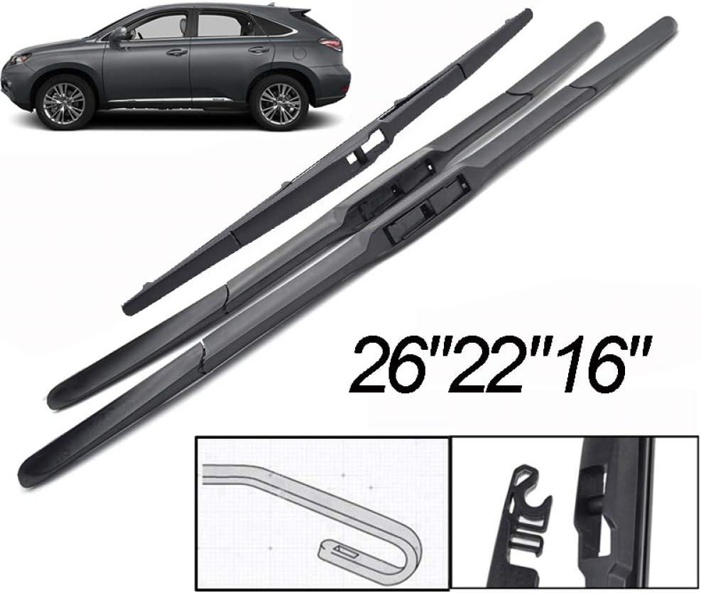 Essuie///-/Glace Avant/arri/ère/Balais dessuie/-Glace Pare-Brise 2622 16 WYYYFA Essuie-Glace de Voiture pour Lexus RX450H RX350 AL10 2009-2015