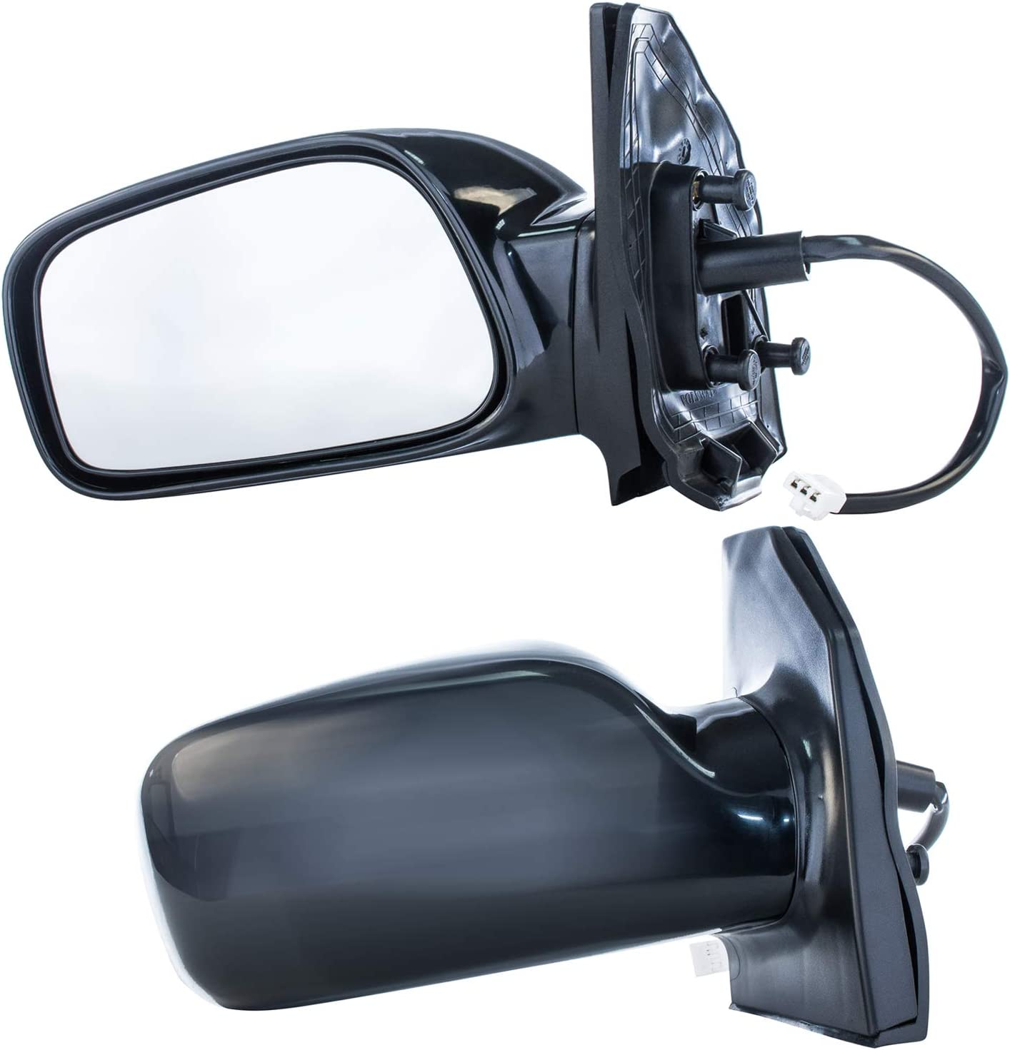 TUPARTS Fit for 2003-2008 Toyota Corolla with Power Adjustment Non-Folding Side View Mirror Right Side Mirror