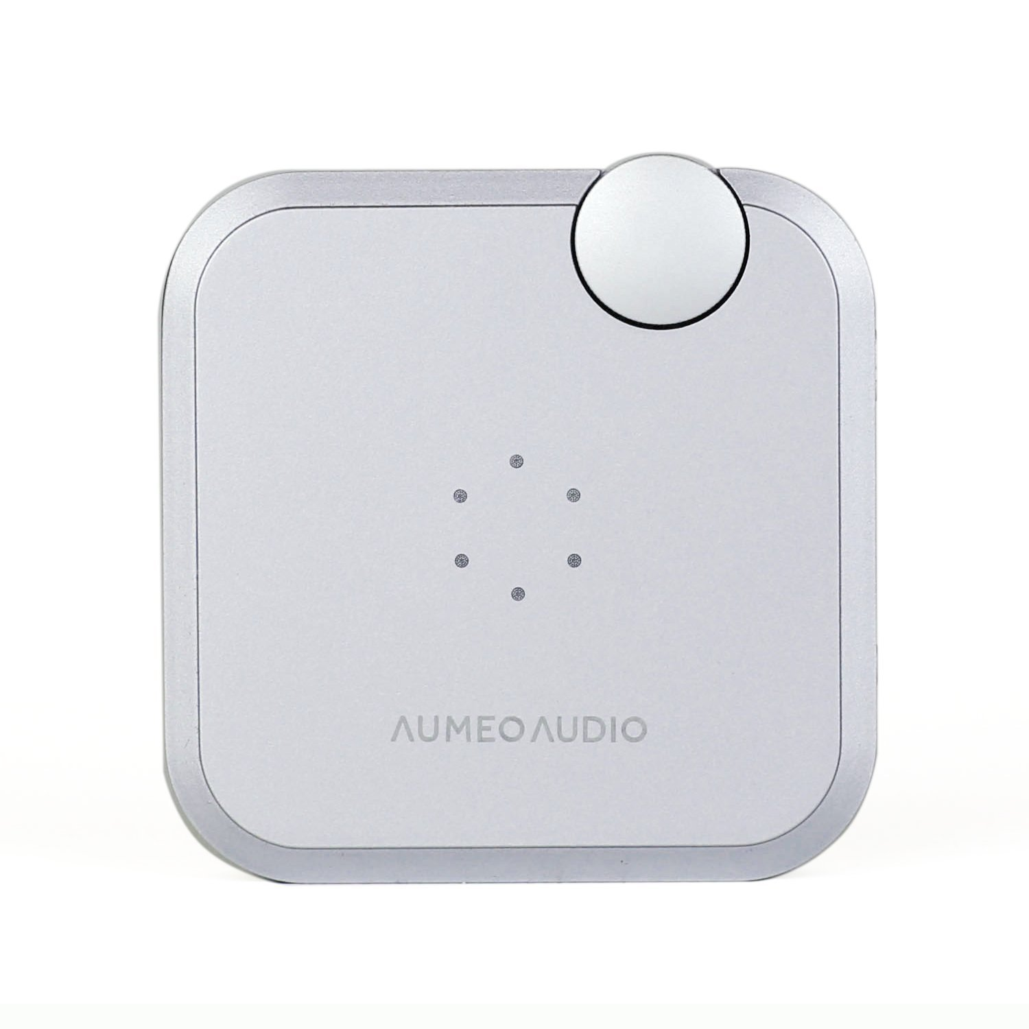 Aumeo Audio Tailored Audio Device and Headphone Personalizer, Bluetooth / 3.5mm Audio Dongle for iPhone, Android and More - Silver