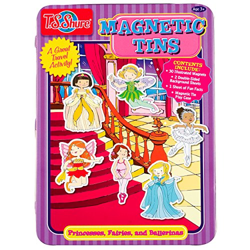 T.S. Shure Princesses, Fairies & Ballerinas Magnetic Tin Play - Fairies Magnetic Playboard