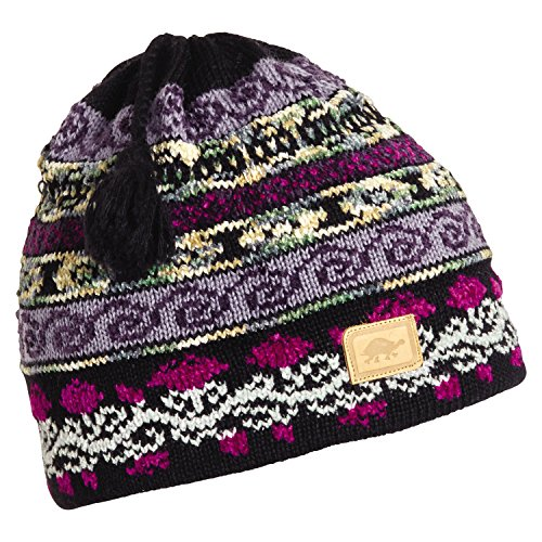 - Turtle Fur Women's Lady Fairisle, Classic Wool Ski Tassel Hat, Black