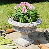 Distressed Stone Medisis Urn Planter - A Lovely Way To Add Victorian Style To Your Garden - Small and Large Available (Large - H20 x D27) by Dibor - French Style Accessories for the Home