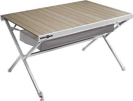 Campingtisch Amazon.Explorer Titanium Tisch 122x79x70cm Aluminium Alu Campingtisch Rolltisch Klapptisch Falttisch Klappbar