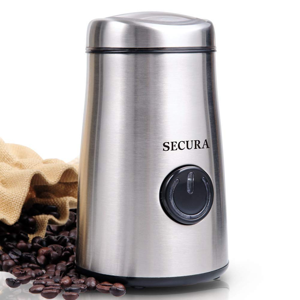 Secura Electric Coffee and Spice Grinder with Stainless-Steel Blades SP-7415