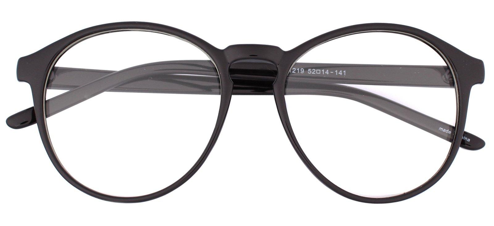 d42e0fd720d Galleon - Oversized Big Round Horn Rimmed Eye Glasses Clear Lens Oval Frame  Non Prescription (Glossy Black 12194)