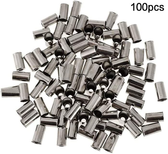 Pinzhi 100x Aluminum Alloy Bicycle Brake Shifter Inner Cable Tips Wire End Cap Crimps
